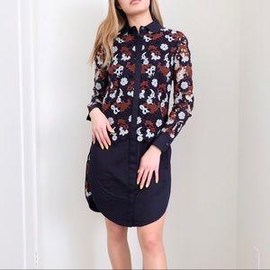Tory Burch Guipure Lace Shirt Cocktail Dress